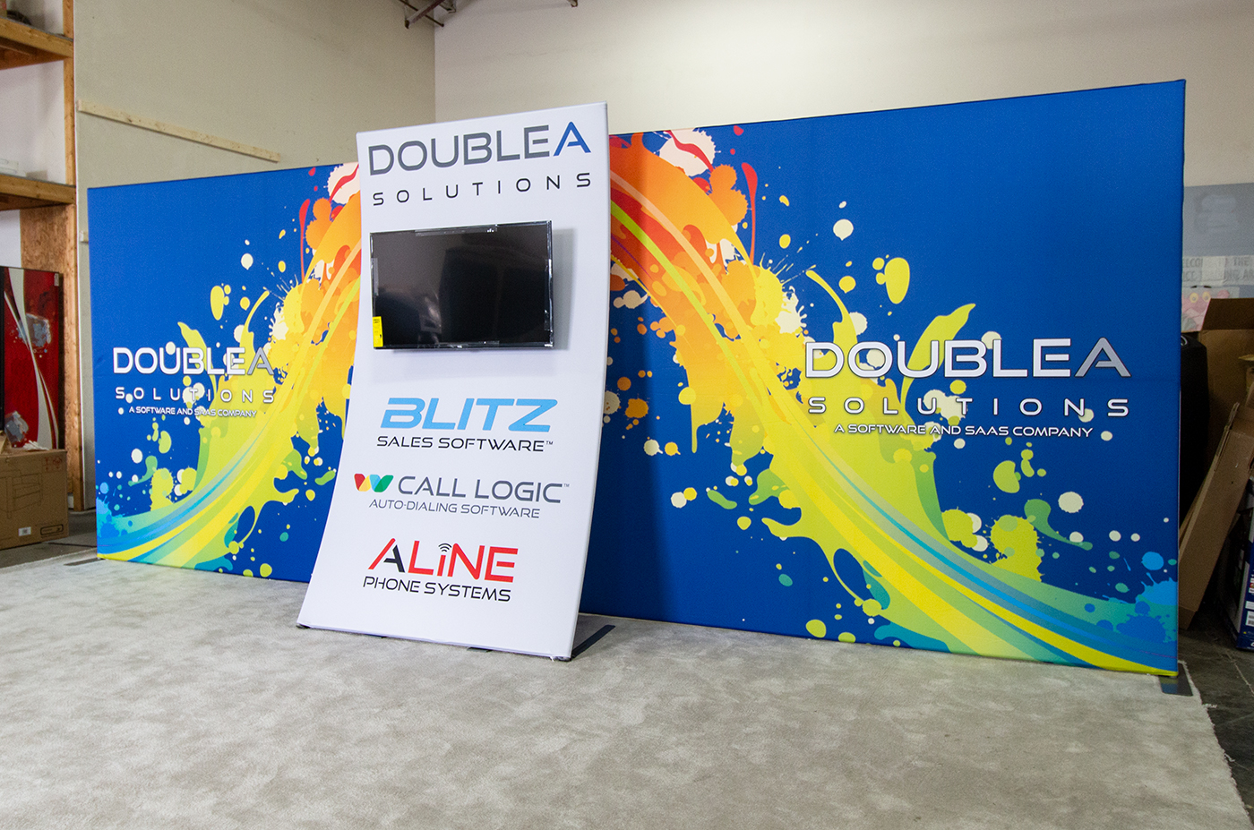 Double A Solutions Inline Booth Display