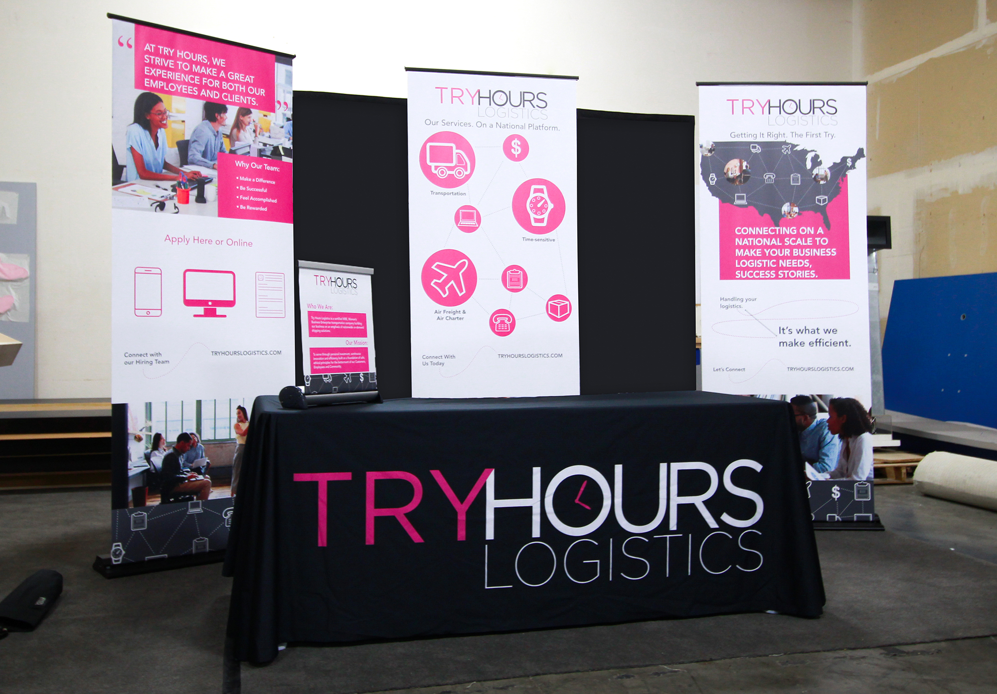 Try Hours Booth Display